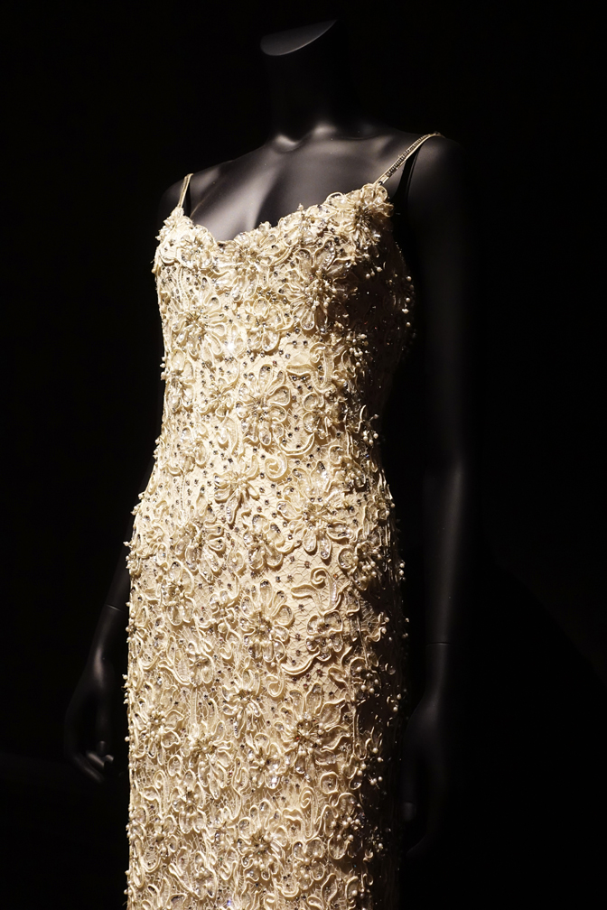 Dalida Exhibition Dress with All-over Embroidery