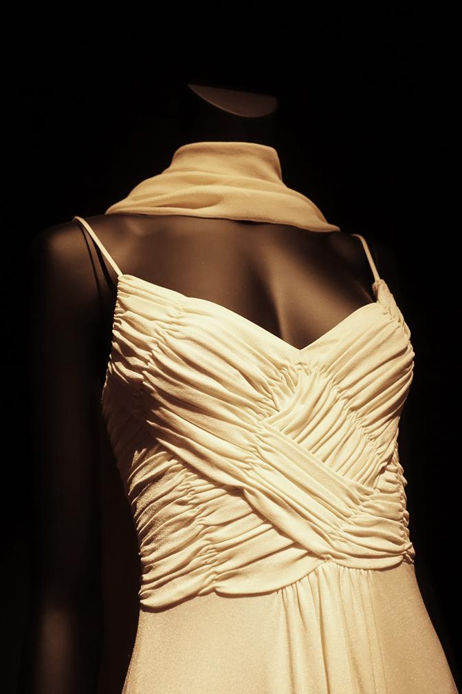 Dalida Exhibition Evening Dress Crossover
