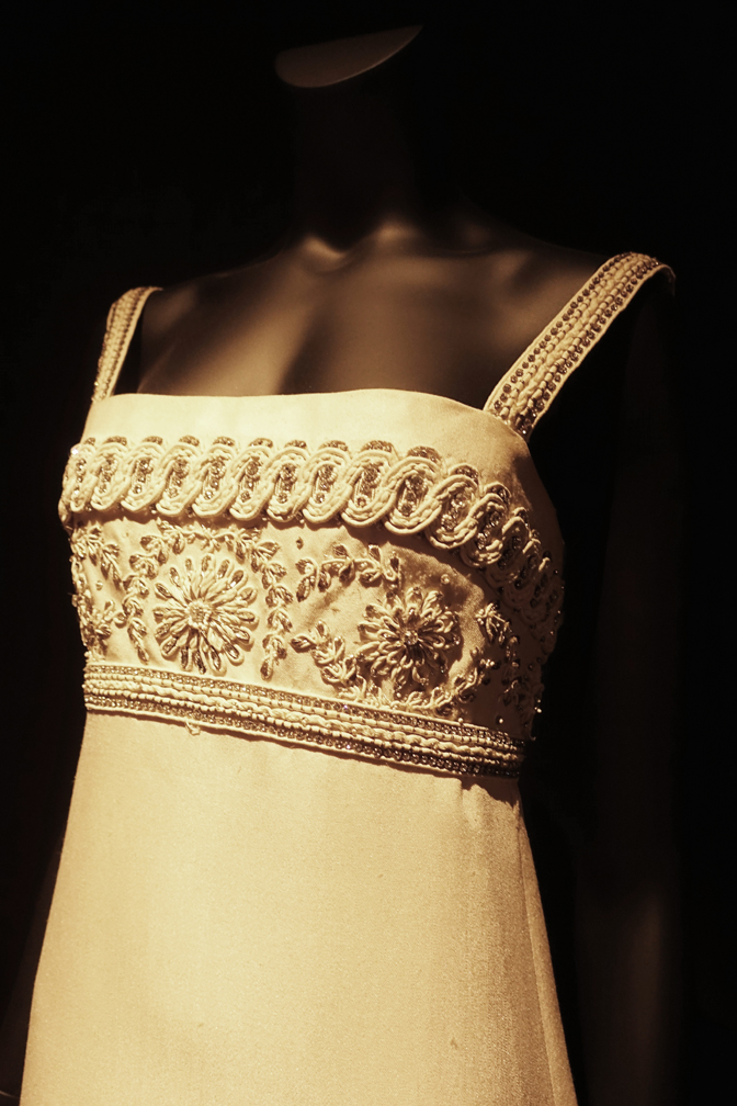 Dalida Exhibition Evening Dress with Embroidery