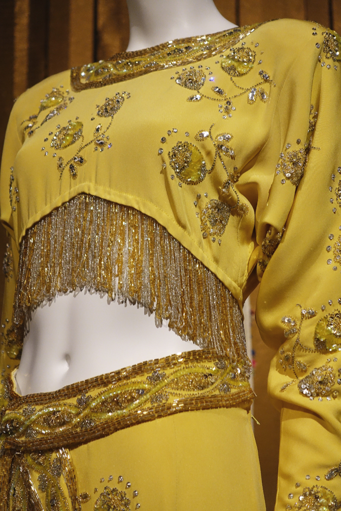 Dalida Exhibition Gold Dress