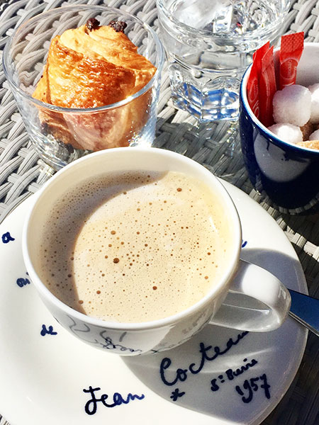 Breakfast at the Hotel Welcome, Villefranche sur Mer. Tours for Women, May and September. All Things French