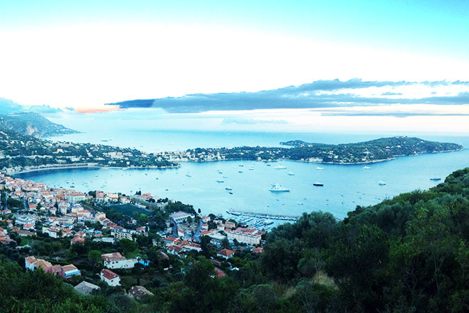 Fort du Mont Alban Views, Villefranche sur Mer. Tours for Women, May and September. All Things French