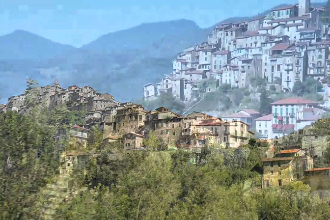 Visit Apricale from the French Riviera. Villefranche sur Mer. Tours for Women, May and September. All Things French