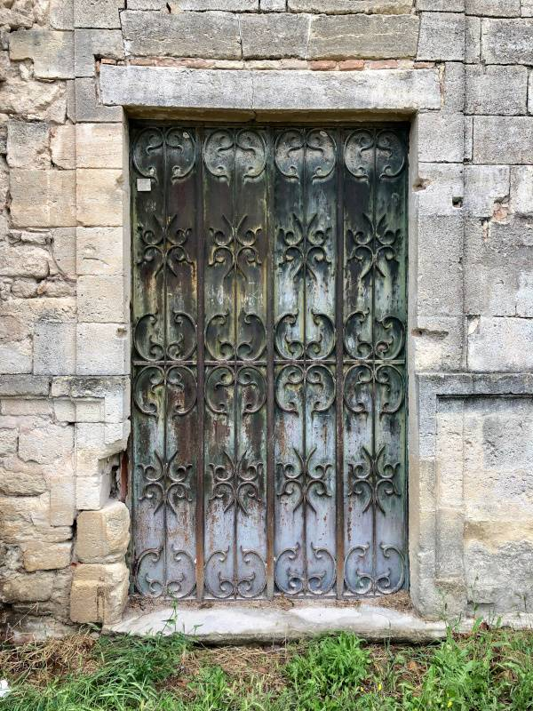 Wrought-iron door. Uzes. Provence Alpes Cote d'Azure. All Things French TOURS